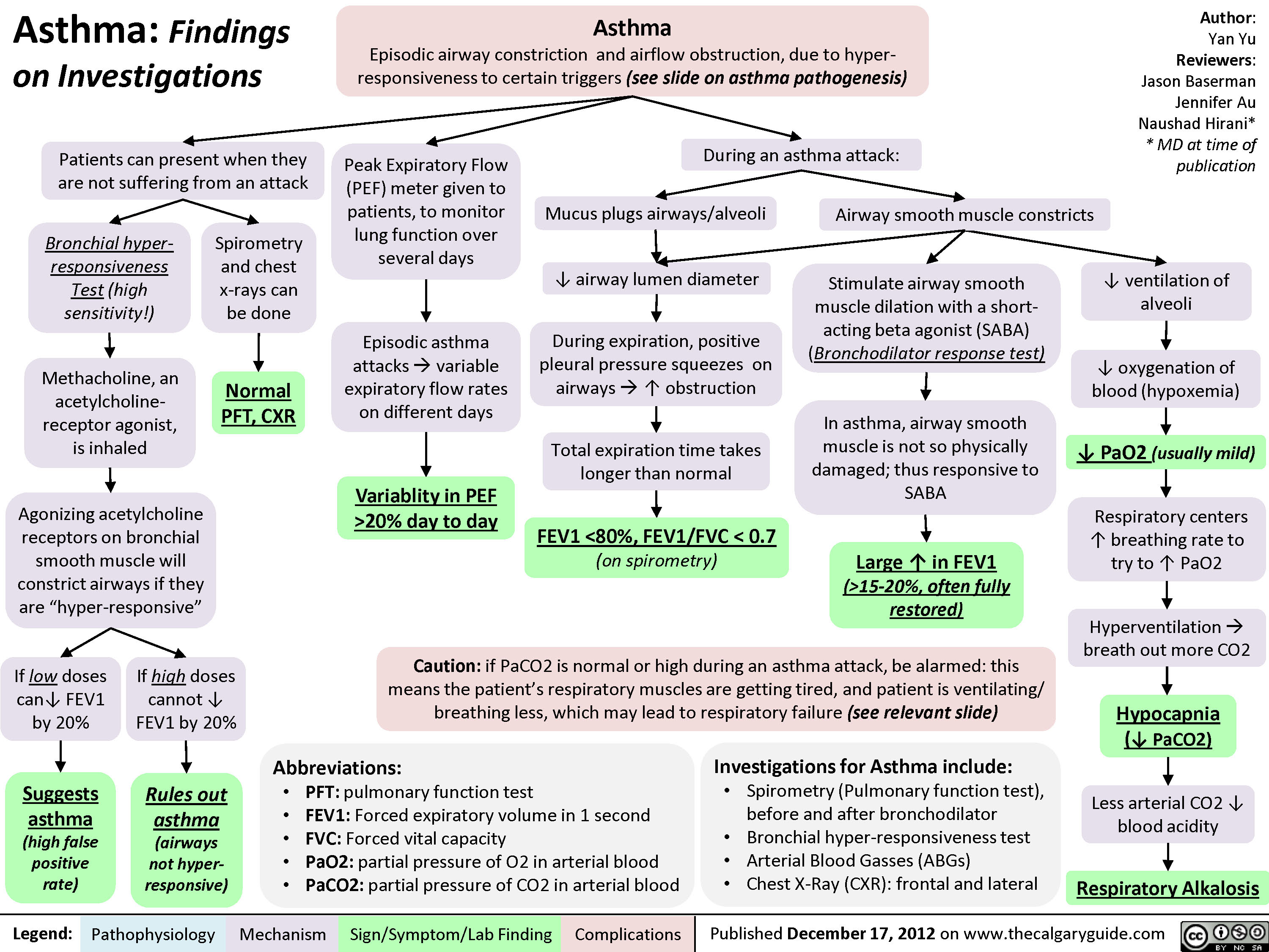 Asthma: Findings on Investigations