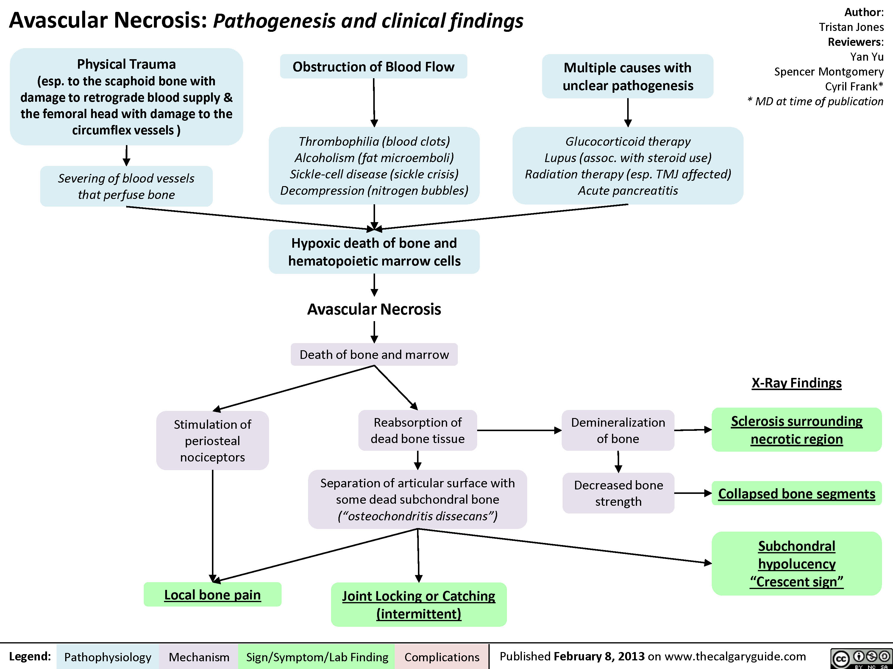 Avascular Necrosis - Pathogenesis and Clinical Findings
