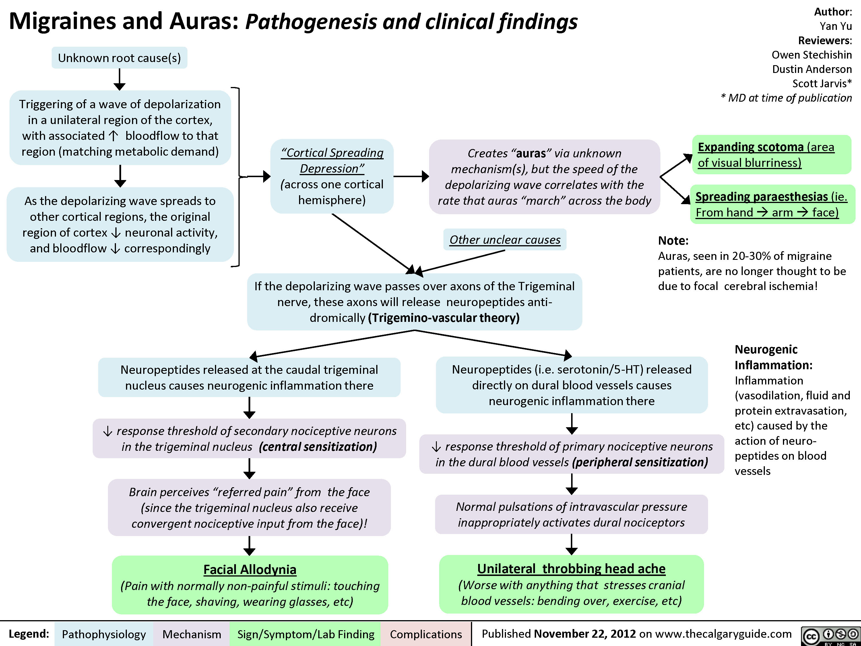 Migraines and Auras Pathogenesis and Clinical Findings