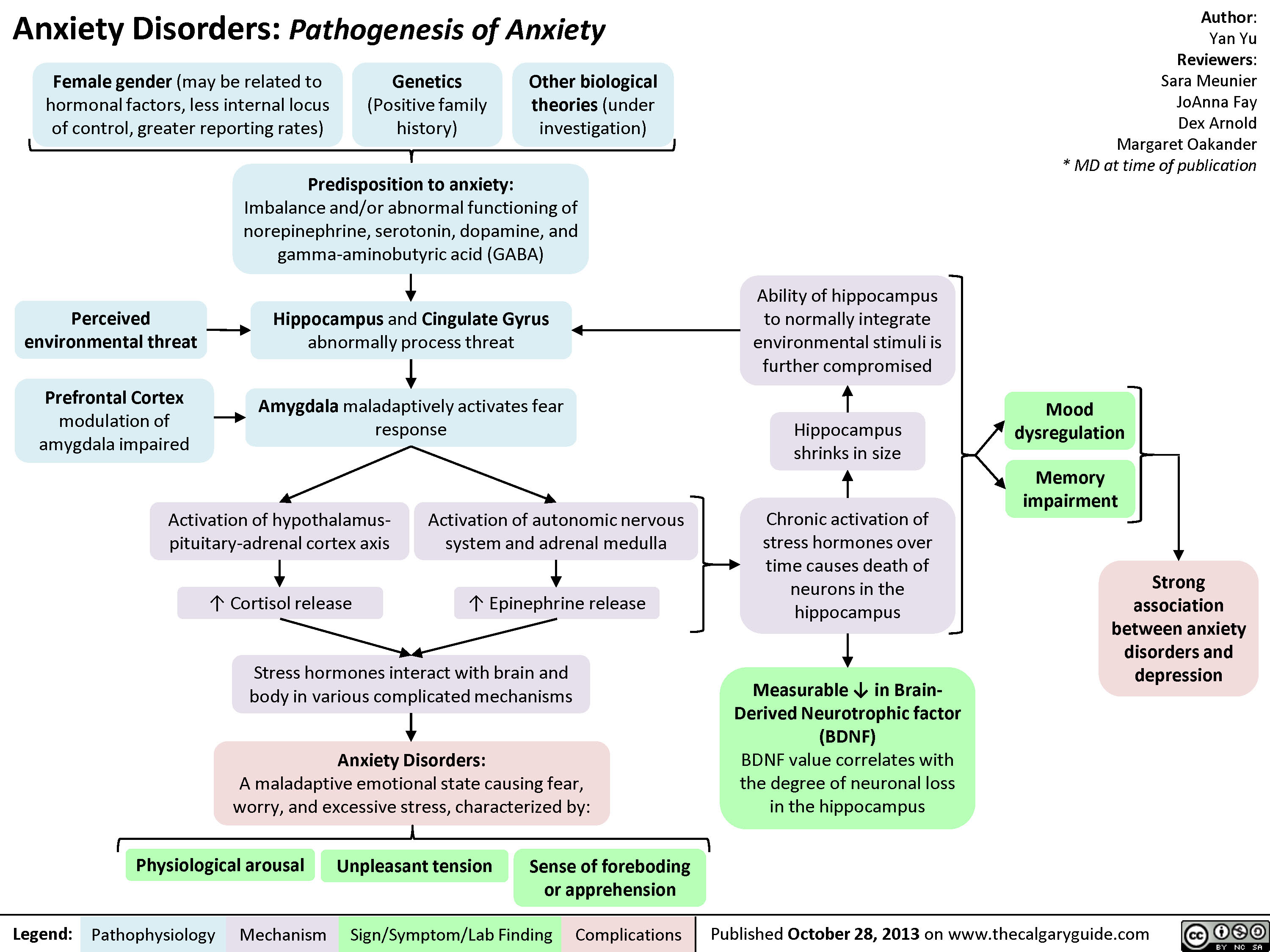 Pathogenesis of Anxiety Disorders
